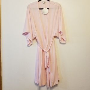 Barefoot Dreams luxe milk jersey light pink robe